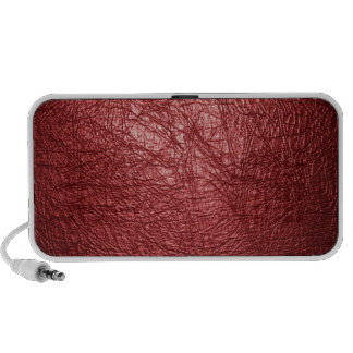 red leather texture speaker