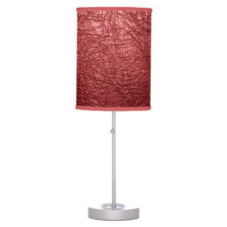 Red leather texture Table Lamp