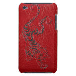 Red Leather Tiger Barely There iPod Covers