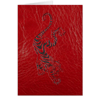 Red Leather Tiger Card