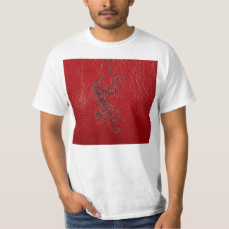 Red Leather Tiger T-Shirt