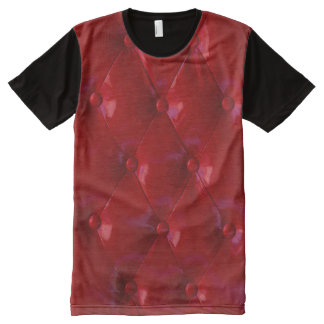Red Leather Upholstery texture pattern elegant All-Over-Print Shirt