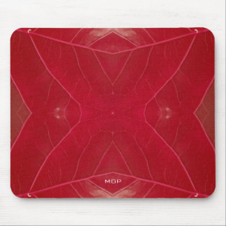 Red Leatherette Mouse Pad