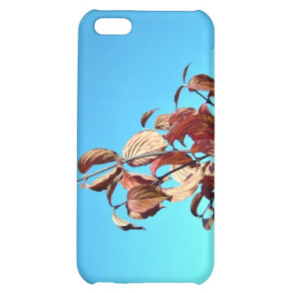 Red leaves against blue sky iPhone 5C covers