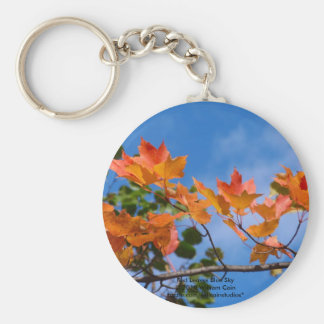 Red Leaves Blue Sky Keychain