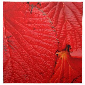 red leaves   Folhas vermelhas Napkin