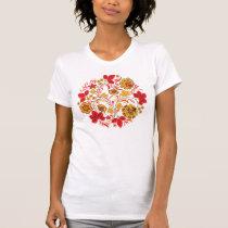 Red Leaves Hohloma T-Shirt