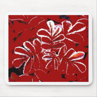 Red Leaves in Snow Christmas Mousepad