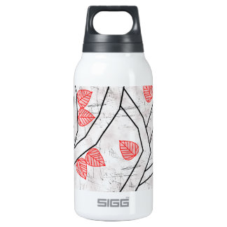 red leaves insulated water bottle