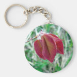 Red Leaves Key Chain