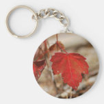 Red Leaves Key Chains
