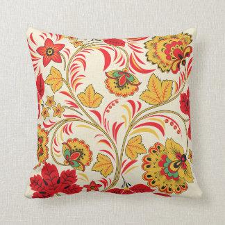Red Leaves Khokhloma Pillow
