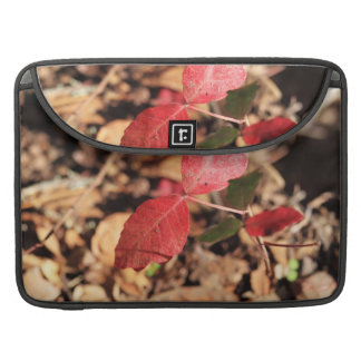 Red Leaves Sleeves For MacBooks