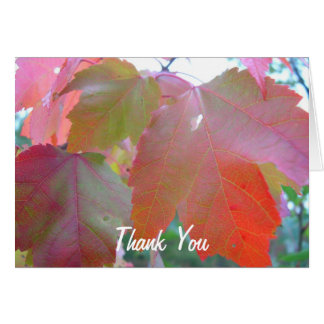 Red Leaves Pastor Appreciation Leader Stationery Note Card