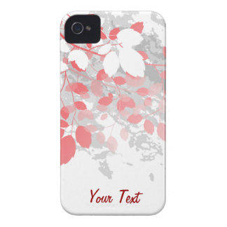 Red Leaves - Personalize iPhone 4 Covers