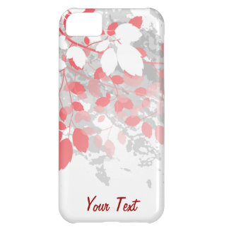 Red Leaves - Personalize iPhone 5C Cases