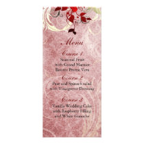 red leaves winter wedding menu