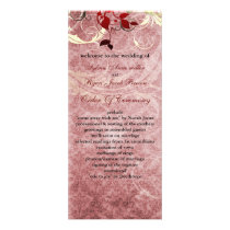 red leaves winter wedding program