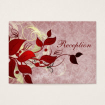 red leaves winter wedding reception cards