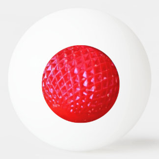Red LED Christmas Light Bulb Ping-Pong Ball