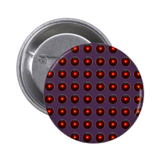 Red LED Polka Dots On Acai Violet Background Pinback Buttons