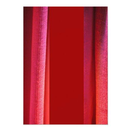 Red LED Wash Lighting Invite