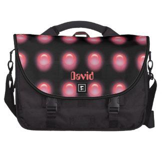 Red LEDS on Black Laptop Bag Template