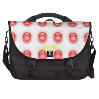 Red LEDS on White Laptop Bag Template