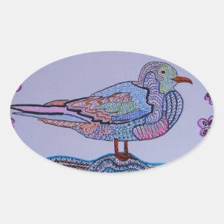 Red-legged Gull Oval Sticker