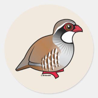 Red-legged Partridge Classic Round Sticker
