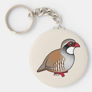 Red-legged Partridge Keychain