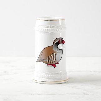 Red-legged Partridge 18 Oz Beer Stein
