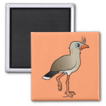 Red-legged Seriema 2 Inch Square Magnet