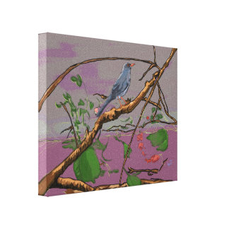 Red Legged Thrush/Zorzal Patirrojo Wrapped Canvas Gallery Wrapped Canvas