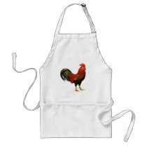 Red Leghorn Rooster Adult Apron