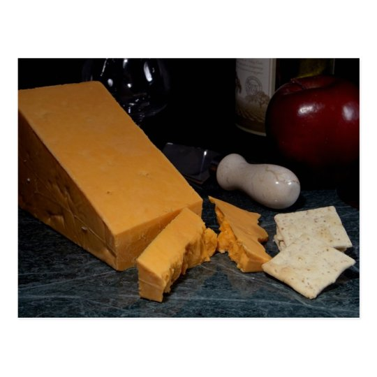Red Leicester Cheese Postcard