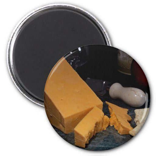 Red Leicester Cheese Refrigerator Magnets