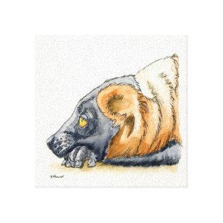 Red Lemur Gallery Wrap Canvas