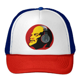 RED LENIN WITH HEADPHONES Trucker Hat