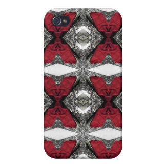 Red Lens Pattern Cover For iPhone 4
