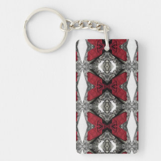 Red Lens Pattern Double-Sided Rectangular Acrylic Keychain