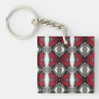 Red Lens Pattern Double-Sided Square Acrylic Keychain
