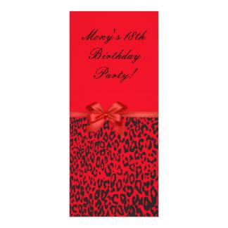 Red Leopard Birthday Invitation