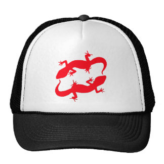Red Leopard Geckos Trucker Hat