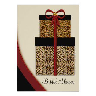 Red Leopard Gifts Leopard Bridal Shower Card