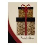 Red Leopard Gifts Leopard Bridal Shower Invites