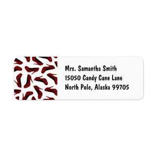 Red Leopard High Heels Print Label