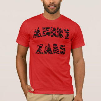 Red Leopard Merry Xmas T-Shirt