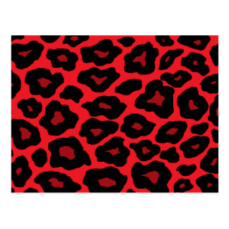 Red Leopard Post Card