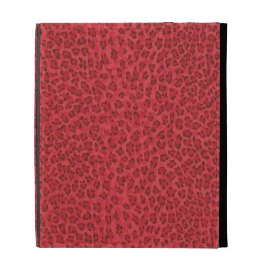 Red Leopard Print iPad Case